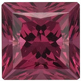 Loose Grade AAA Loose Swarovski Raspberry Rhodolite Garnet Gemstones in Princess Cut