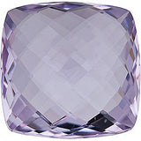 Double Sided Checkerboard Antique Square Rose de France Amethyst in Grade AA