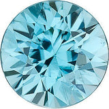 Grade AAA Round Shape Loose Blue Zircon Gems in Standard Sizes