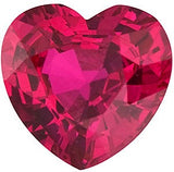 Standard Size Heart Cut Genuine Loose Ruby Gemstone in Grade AA