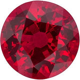 Low Price Round Cut Precious Natural Ruby Gem in Grade AAA