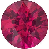 Real Diamond Cut Round Genuine Loose Ruby Gemstone in Grade AA