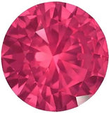 Genuine Swarovski Pinkish Red Precious Natural Ruby Gem - Round Precision Cut