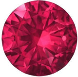 Standard Size Round Swarovski Rich Precious Natural Ruby Gem in Grade AAA Precision Cut