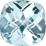 Antique Square Checkerboard Cut Natural Sky Blue  Topaz Gem in AAA Grade