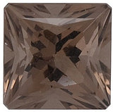 Natural Oak Color Princess Cut Loose Smokey Quartz Gems in Grade AAA