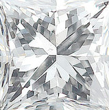 Top Quality Natural Diamond Melee in Princess Cut, GH Color - SI1 Clarity
