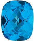 Antique Cushion Checkerboard Cut Top Quality Swiss Blue  Topaz Gem in AAA Grade