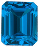 Grade AAA Beautiful Swiss Blue Emerald Cut Topaz Gem