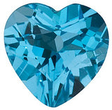 Shop Swiss Blue  Topaz Gem in Heart Cut AAA Grade