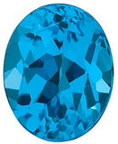 Oval Cut Genuine Swiss Blue  Topaz Gem in AAA Grade