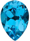 Best Swiss Blue  Topaz Gem in Pear Cut AAA Grade