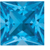 Best Price Princess Cut Swiss Blue Grade AAA Topaz Gem