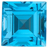 Shop Step Square Cut Swiss Blue Grade AAA Topaz Gem
