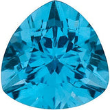 Grade AAA Genuine Swiss Blue Trillion Cut Topaz Gem