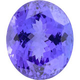 Grade A Beautiful Genuine Tanzanite Gemstones in Oval Cut
