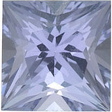 Standard Size Princess Cut Loose Tanzanite Gems in Grade AA
