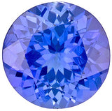 Attractive Round Cut Genuine Tanzanite Gemstones in Grade AA