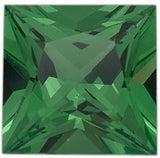 Calibrated Size Beautiful Princess Cut Genuine Tsavorite Garnet in Grade AAA