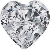 Genuine Grade AAA White Sapphire Gemstone in Heart Cut