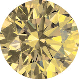Best Enhanced Yellow Color Round Loose Diamond Melee