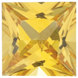 Grade AAA Shop Genuine Yellow Sapphire Gemstones in Princess Cut