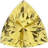 Grade AAA Attractive Genuine Yellow Sapphire Gemstones in Trillion Cut