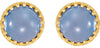 Beautiful Genuine Gemstone Chalcedony Earrings at BitCoin Gems