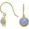 Exquisite Genuine Gemstone Chalcedony Earrings at BitCoin Gems