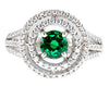 Glittering Green Tourmaline Genuine Gemstone Ring at BitCoin Gems