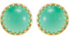 Lovely Genuine Gemstone Chrysoprase Earrings at BitCoin Gems