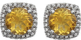 Perfect Genuine Gemstone Citrine Earrings at BitCoin Gems