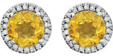 Pretty Genuine Gemstone Citrine Earrings at BitCoin Gems