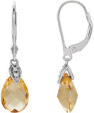 Cheerful Genuine Gemstone Citrine Earrings at BitCoin Gems