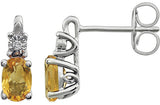 Radiant Genuine Gemstone Citrine Earrings at BitCoin Gems