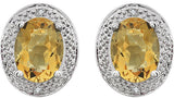 Lovely Genuine Gemstone Citrine Earrings at BitCoin Gems