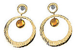 Fetching Genuine Gemstone Citrine Earrings at BitCoin Gems