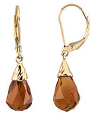 Stunning Genuine Gemstone Citrine Earrings at BitCoin Gems