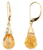 Exclusive Genuine Gemstone Citrine Earrings at BitCoin Gems