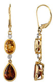 Amazing Genuine Gemstone Citrine Earrings at BitCoin Gems