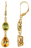 Rich Genuine Gemstone Citrine Earrings at BitCoin Gems