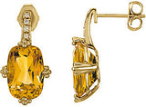 Alluring Genuine Gemstone Citrine Earrings at BitCoin Gems