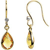 Exquisite Genuine Gemstone Citrine Earrings at BitCoin Gems