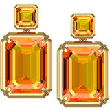 Gorgeous Genuine Gemstone Citrine Earrings at BitCoin Gems