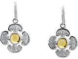 Detailed Genuine Gemstone Citrine Earrings at BitCoin Gems
