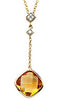 Radiant Genuine Gemstone Citrine Pendant for SALE at BitCoin Gems