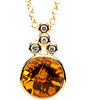 Gorgeous Genuine Gemstone Citrine Pendant for SALE at BitCoin Gems