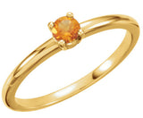 Beautiful Citrine Genuine Gemstone Ring at BitCoin Gems