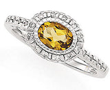 Desirable Citrine Genuine Gemstone Ring at BitCoin Gems
