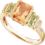 Luxurious Citrine Genuine Gemstone Ring at BitCoin Gems